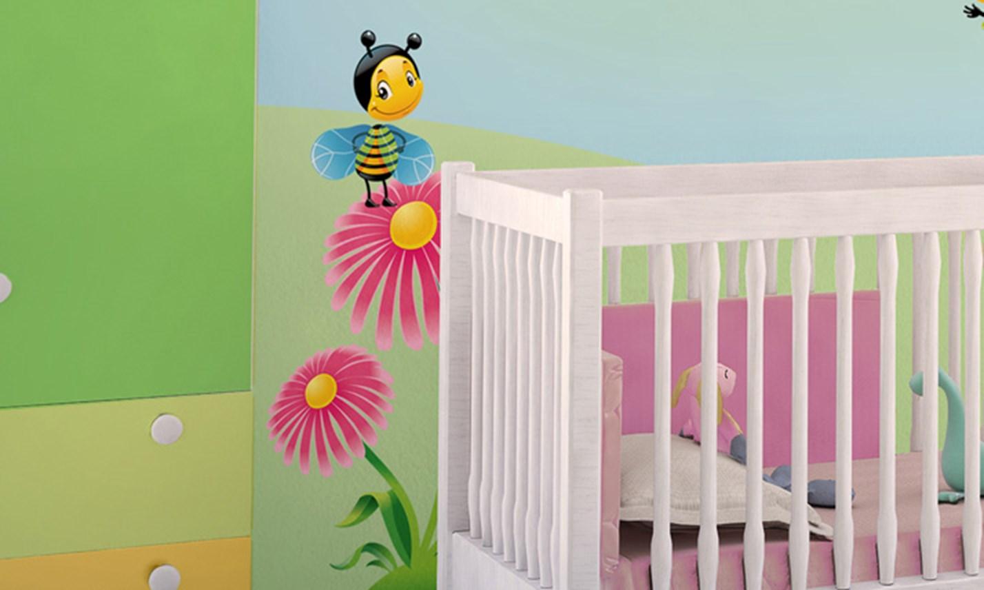 Disegni sul muro per bambini stickers per bambini leroy for Decora la stanza delle winx